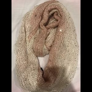 New with tags pink and white infinity scarf